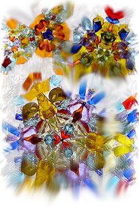 Калейдоскопы стеклянные