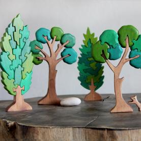 набор деревянных пазлов Лес