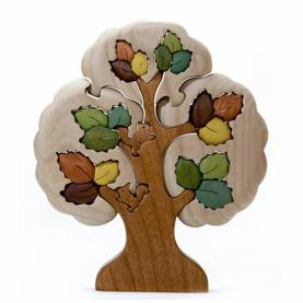 деревянный пазл Осенний дуб