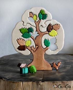 Пазл из дерева дуб