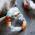 браслет из галтованных самоцветов